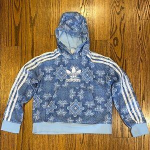 Adidas crop top hoodie